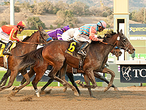Spellbound wins the La Canada Stakes.