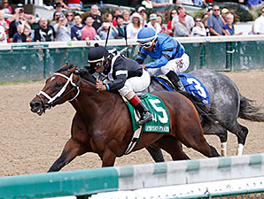 Spelling Again wins the 2015 Open Mind Stakes.