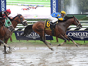 Spring to the Sky wins the 2014 Troy Stakes.