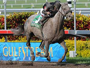 Stronach Stables' homebred Spring Waltz scored a 3 1/4 length victory in the Rampart Handicap (gr. II) March 9 at Gulfstream Park.
