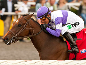 Sprouts wins the 2013 California Thoroughbred Breeders' Association Stakes.