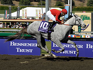 Stardom Bound wins the 2008 Breeders' Cup Juvenile Fillies.