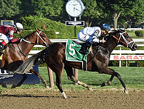 Stopchargingmaria wins the Shuvee Stakes.