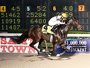 Sunbean wins the 2014 Delta Mile Stakes.