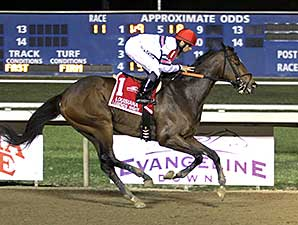 Sunbean wins the 2014 Louisiana Legends Classic Stakes.