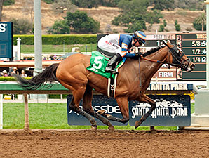 Sunday Rules wins the 2015 Spring Fever Stakes.