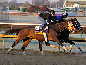 Super Espresso works at Churchill Downs on Oct. 29, 2011.