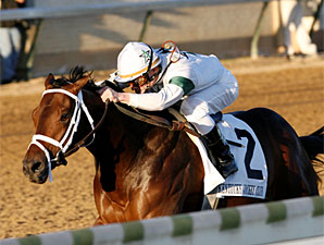 Super Saver wins the 2009 Kentucky Jockey Club.
