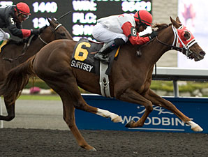 Surtsey wins the 2012 Fanfreluche Stakes.