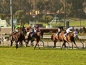 Susans Express win the 2014 California Cup Oaks.