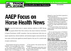 TradeZone: AAEP Focus on Horse Health News