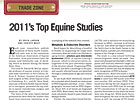 Trade Zone: 2011&#39;s Top Equine Studies