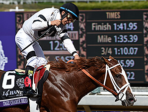 Take Charge Brandi wins the 2014 Breeders' Cup Juvenile Fillies.