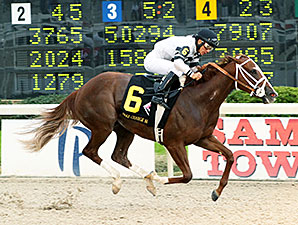 Take Charge Brandi wins the 2014 Delta Downs Princess.
