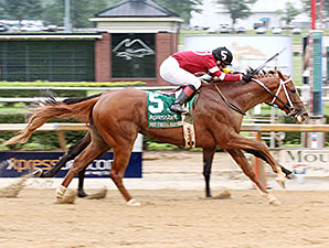 Tapiture wins the 2014 West Virginia Derby.