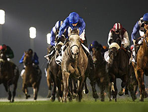 Tasaday wins the 2014 Dubai Millennium Stakes.