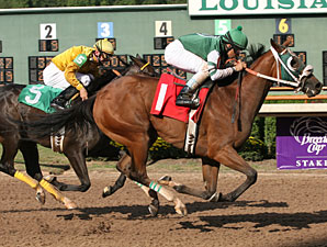 The Rumor's True wins the 2009 Happy Ticket Stakes.