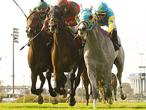 Thorn Song wins the 2009 Shoemaker Mile.