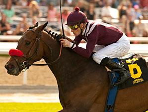 Tiz Flirtatious wins the Santa Ana Stakes.