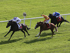 Trading Leather wins the 2013 Irish Derby.
