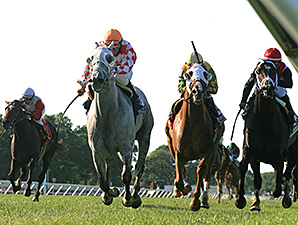 Tune Me In wins the 2012 Oceanport Stakes.