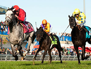 Turallure Finds Room in Wild Woodbine Mile