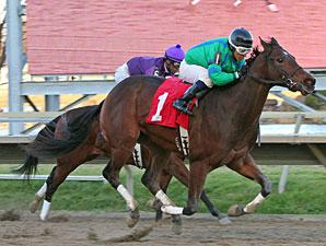 Turbo Speed #1 with David Cora riding wins the $75,000 Pennsylvania Nursery Stakes at Philadelphia Park.