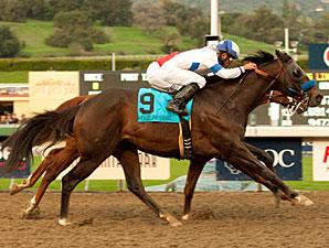Twirling Candy wins the 2010 Malibu.