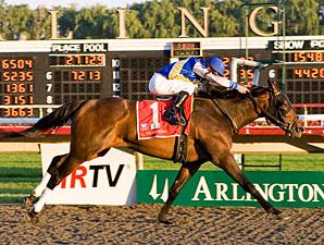 Upperline wins the 2010 Arlington Oaks.