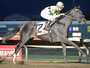 Uptown Bertie wins the 2012 Iowa Oaks.