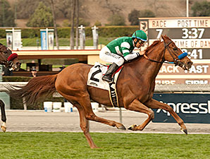Vagabond Shoes wins the 2014 San Marcos Stakes.