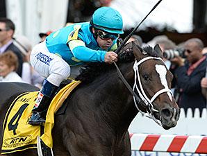 Wallyanna wins the 2014 James W. Murphy Stakes.
