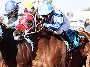 Way to Go Gerda wins the New Mexico Classic Championship Filly.