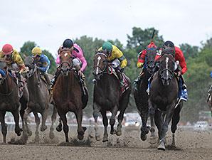 Weekend Hideaway wins the 2014 John Morrissey Stakes.