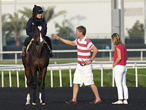 Wigmore Hall with Trainer Michael Bell - Dubai, March 27, 2013.