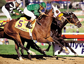 WIld Aagain, inside, wins the 1984 Breeders' Cup Classic.