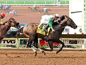 Wild Dude wins the Bing Crosby Stakes.