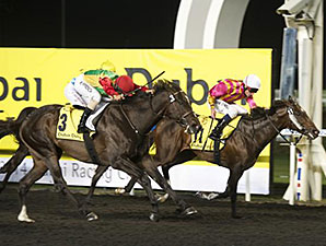 Zain Shamardal wins the 2014 Dubai Duty Free Finest Surprise Handicap.