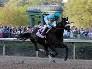 Zenyatta wins the 2010 Apple Blossom.