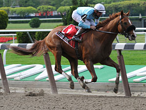 Casino Drive wins the Peter Pan (gr. II) in his Belmont Stakes (gr. I).