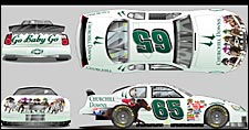 Churchill Images Featured on Race Car