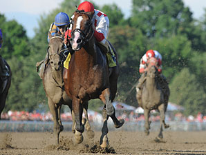 Currency Swap wins the Amsterdam Stakes.