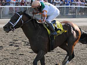 Divine Park storms home to take the Met Mile (gr. I).