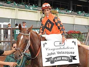John Velazquez Reaches 4,000-Win Plateau