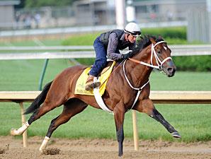 Mark Valeski works towards the Kentucky Derby. 4/30/2012