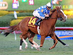 Nikki's Sandcastle wins the El Prado Stakes.