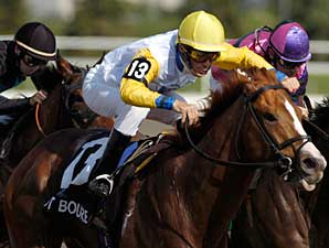 Not Bourbon wins the Queen's Plate, the opening leg of the Canadian Triple Crown, on June 22 at Woodbine.