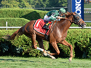 Ring Weekend wins the Saranac Stakes.