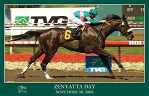 Hollywood to Give Out Zenyatta Posters