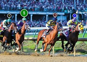 2014 Kentucky Derby Race Sequence